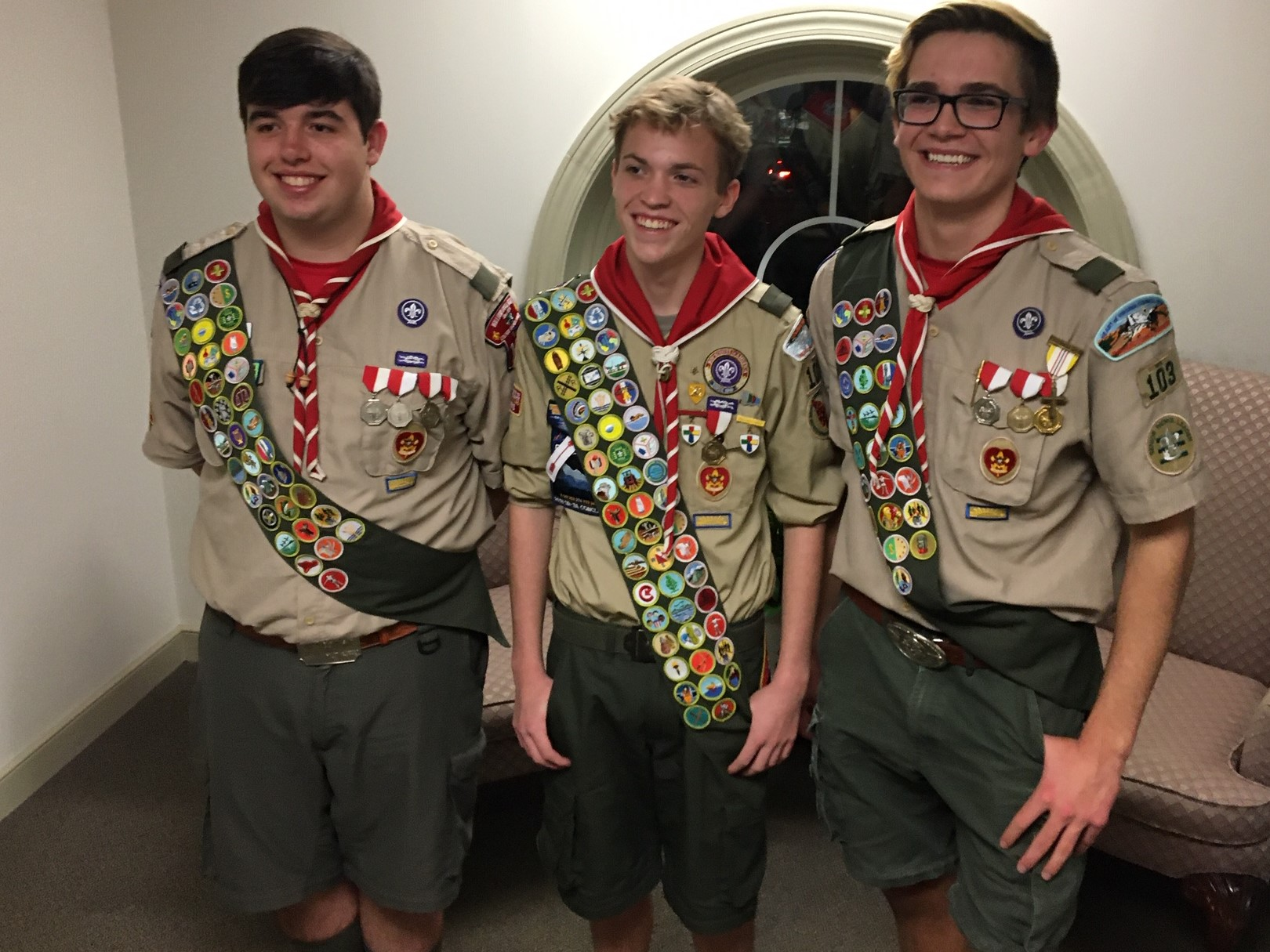 Troop 103 Congratulates 3 new Eagle Scouts!!!!