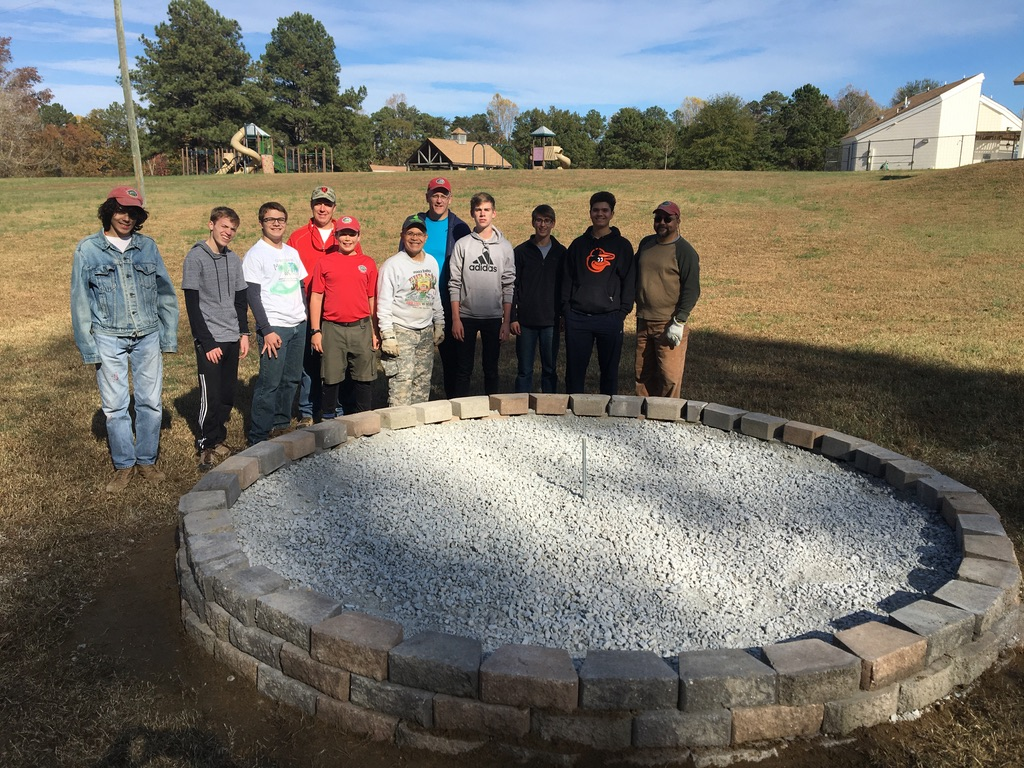 Troop 103 Builds Fire Ring at Upper County Park
