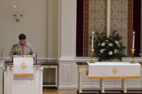 WUMC selects Troop 103 Program to Receive an Advent Offering this year!
