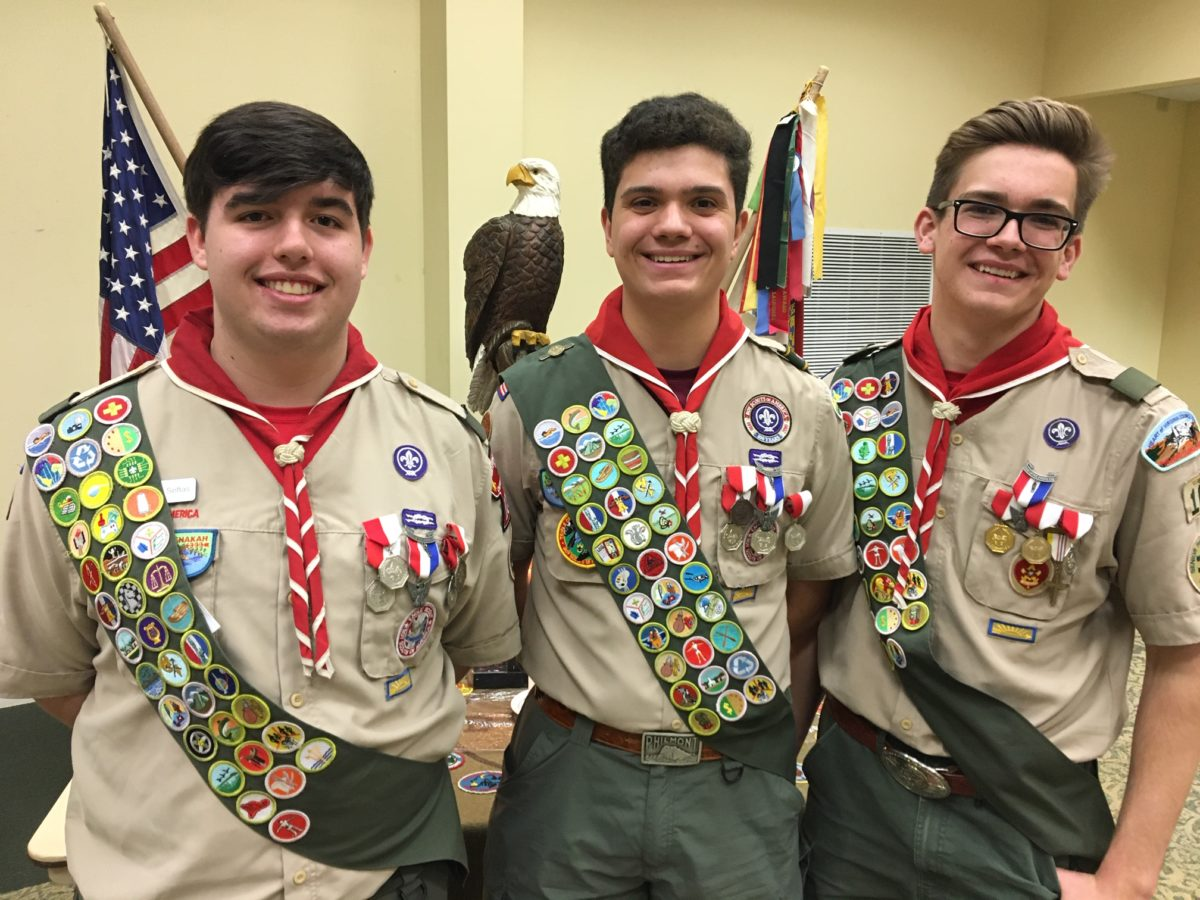 Troop 103 officially charges 3 more Eagle Scouts from 2019 Class!