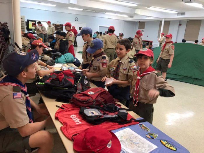 WEBELOS/AOL Scouts Night at Troop 103
