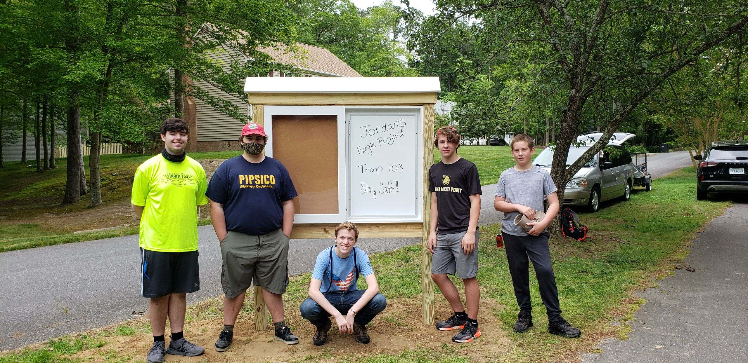 Troop 103 Eagle Project in St. George's Hundred