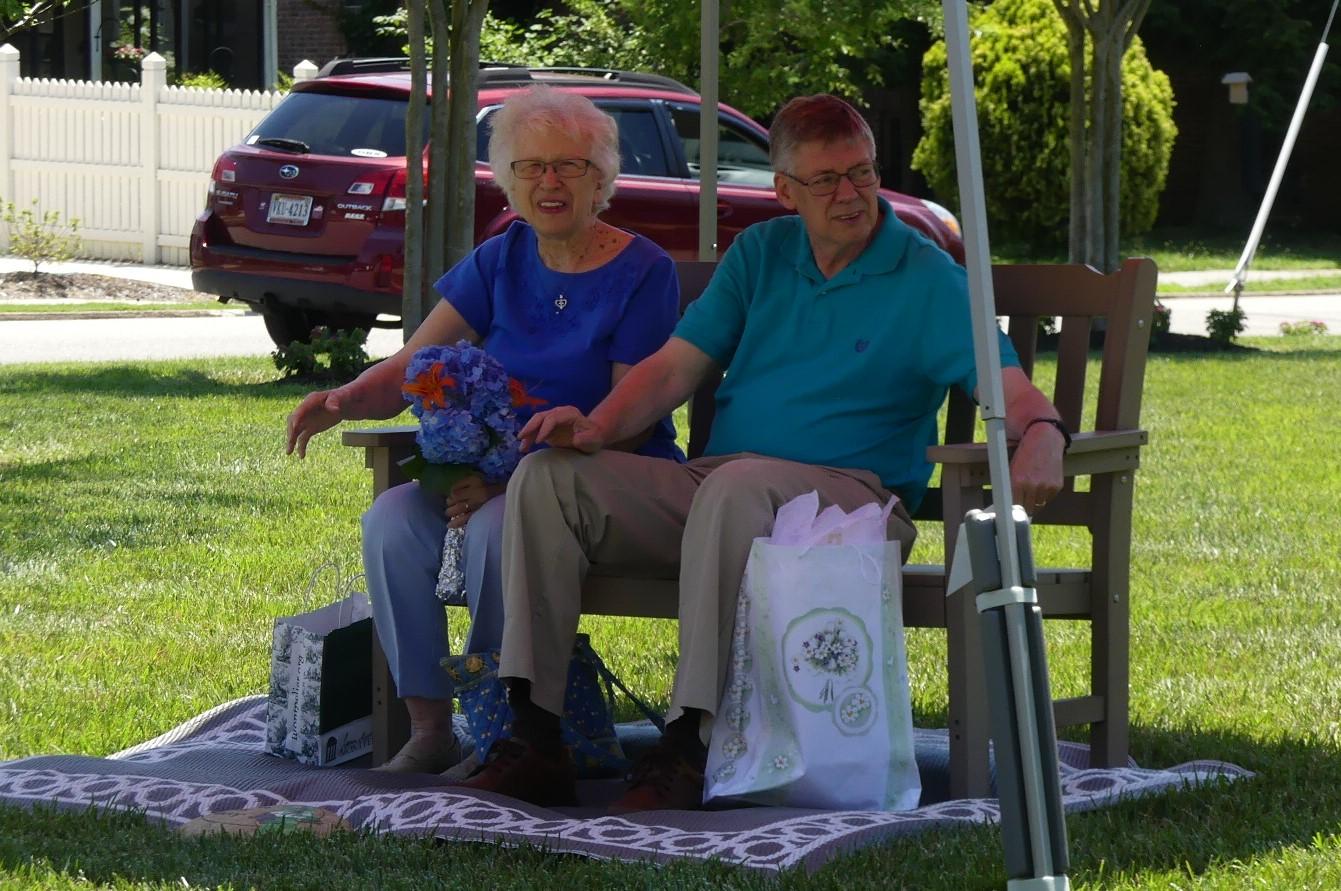 Troop 103 helps in the send-off of WUMC's Senior Pastor