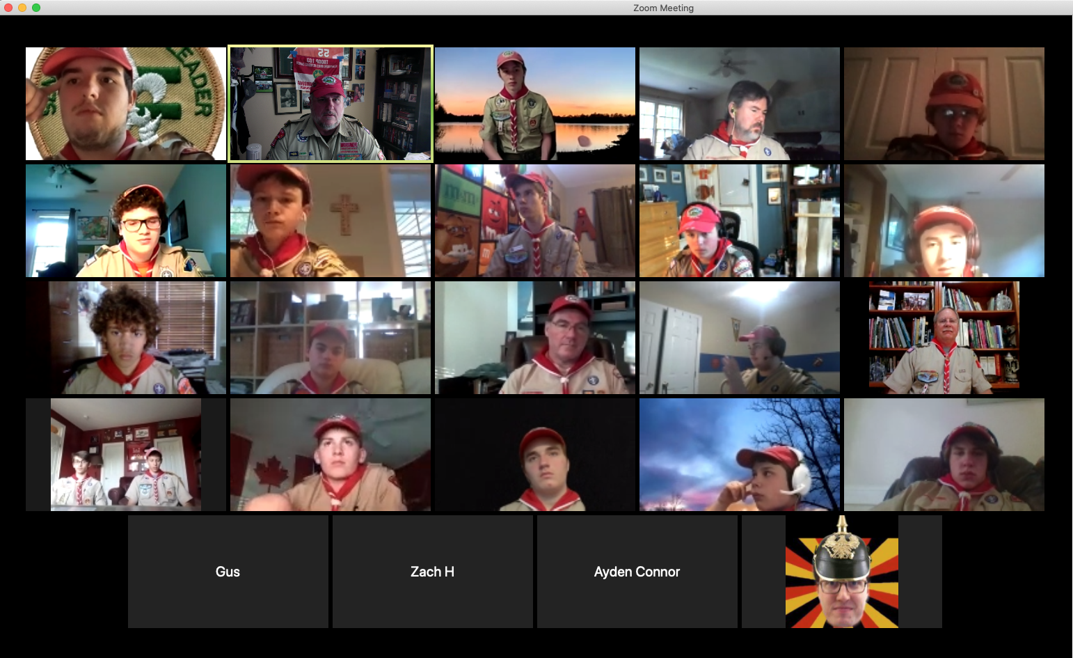 Troop 103 Continues to Keep Scouts engaged in meetings and Merit badges via Zoom and other virtual means!