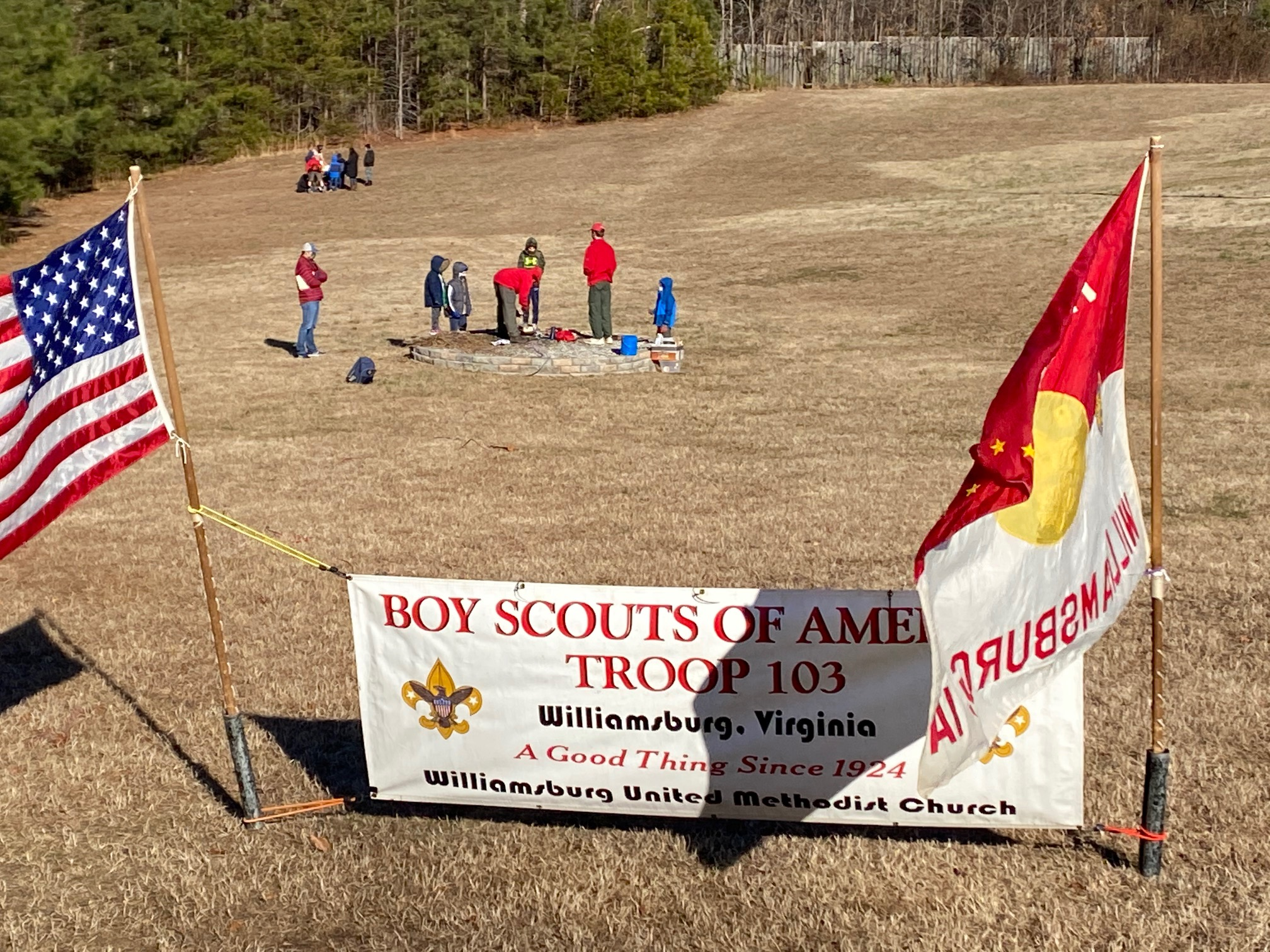 Troop 103 hosts Pack 103 AOL and WEBELOS Scouts