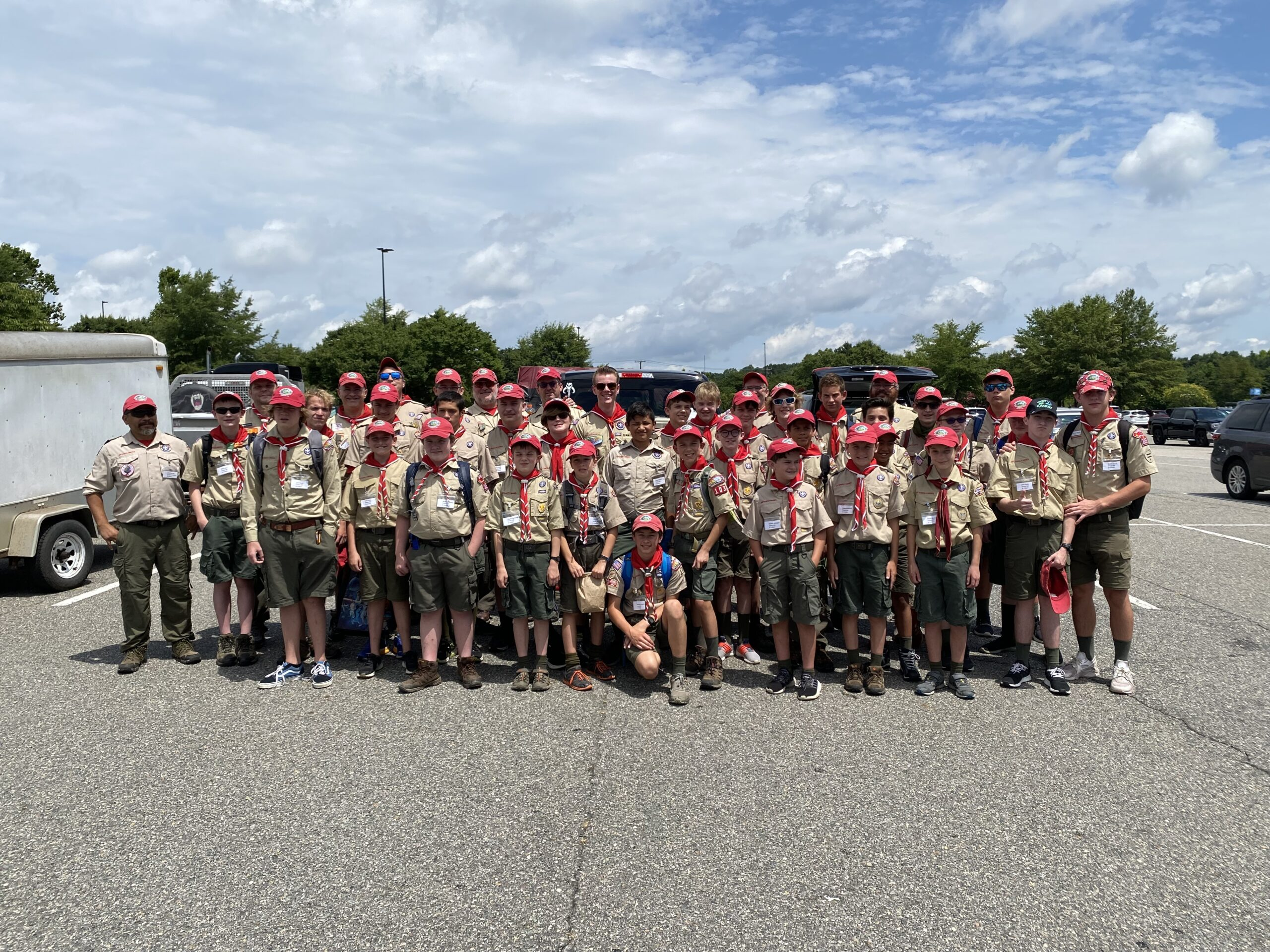 Troop 103 heads to T.  Brady Saunders for Summer Camp!!!
